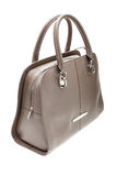 Grey womens bag  on white background. Royalty Free Stock Photography