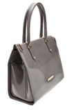 Grey womens bag  on white background. Stock Images