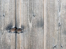 Grey Wood Board with Knotholes Stock Photos
