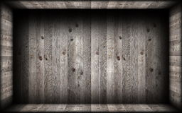 Grey  wood finishing on empty interior backdrop Stock Image