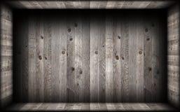 Grey  wood finishing on empty interior backdrop Stock Image