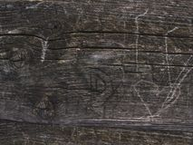Grey wood plank grain texture. Wooden board striped old fiber stock images