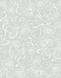 Grey wooden  background with hand draw  hearts Stock Photography