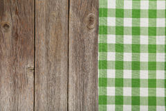 Grey wooden background with a napkin Stock Photos