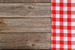 Grey wooden background with a napkin Stock Photo