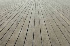 Grey wooden deck Stock Photography