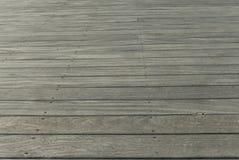 Grey wooden deck Stock Photos