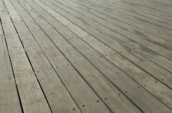 Grey wooden deck Royalty Free Stock Image