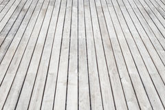 Grey wooden decking texture and background Stock Images
