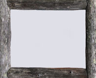 Grey wooden frame Royalty Free Stock Photos