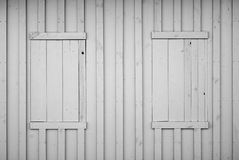 Grey wooden plank wall Stock Images