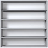 Grey wooden shelves Stock Image