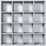 Grey wooden shelves Stock Photos