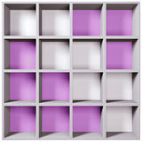 Grey wooden shelves Royalty Free Stock Photo