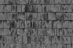 Grey Wooden Square Pattern Backgroud escuro imagens de stock royalty free