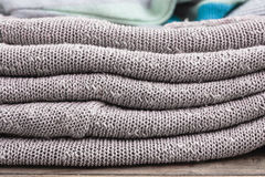 Grey wool Royalty Free Stock Images