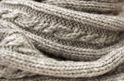 Grey knitted texture Stock Photos