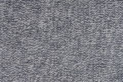 Grey woolen knitted texture with horizontal stitching. royalty free stock images