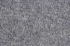 Grey woolen knitted texture with vertical stitching. royalty free stock image