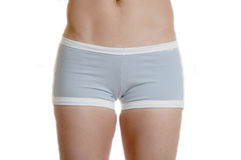 Grey workout shorts bottom Royalty Free Stock Photo