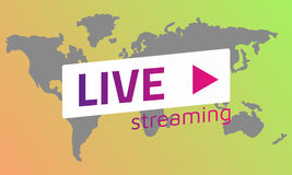 Grey World map  Live stream orange green gradients. Eps10 Stock Photos