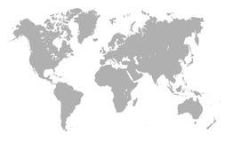 Grey World Map - vector Ilustración del Vector
