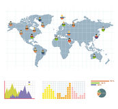 Grey world round infographic, Stock Image