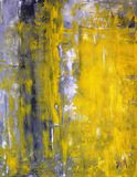 Grey and Yellow Abstract Art Painting. This image is of an original abstract art painting by T30 Gallery stock photos