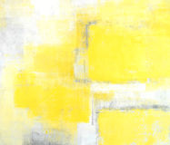 Grey and Yellow Abstract Art Painting. Modern and textured abstract art painting Royalty Free Stock Image