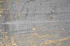 Grey and yellow concrete. Grey concrete with yellow lines Stock Photography