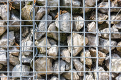 Grey Yellow Stone Wall Reinforced Metal Texture Macro Royalty Free Stock Image