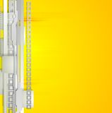 Grey and yellow technology background Royalty Free Stock Photo