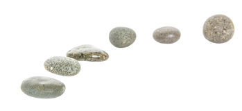 Grey Zen Stones III Royalty Free Stock Image