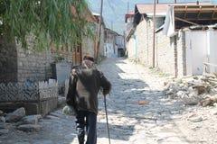 Greybeard en Lahij, Ismayilly azerbaijan viejo Imagenes de archivo