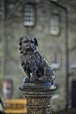 Greyfriars Bobby, bij nacht, Edinburgh, Schotland Stock Foto's