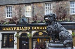 Greyfriars Bobby in Edinburgh stock afbeelding