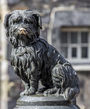 Greyfriars Bobby. EDINBURGH, UK - 24 APRIL 2016.  Greyfriars Bobby statue of famous Terrior dog Royalty Free Stock Photo