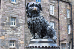Greyfriars Bobby in horizontal picture. Greyfriars Bobby Statue in Edinburghin horizontal format stock images