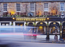 Greyfriars Bobby`s Bar in Edinburgh Royalty Free Stock Photo
