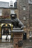 Greyfriars bobby. The statue of greyfriars bobby in front of a tavern stock photography