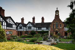Greyfriars House & Gardens in Worcester. Late Medieval merchant`s house, rescued from demolition, in Worcester city centre Royalty Free Stock Photography