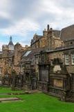 Greyfriars Kirkyard在爱丁堡,苏格兰,英国 免版税库存图片