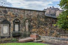 Greyfriars Kirkyard在爱丁堡,苏格兰 图库摄影
