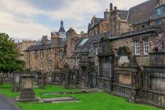 Greyfriars Kirkyard在爱丁堡,苏格兰 免版税库存图片