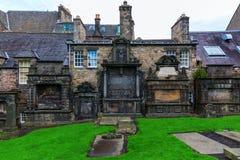 Greyfriars Kirkyard in Edinburgh, UK Royalty Free Stock Photos