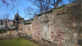 Greyfriars Kirkyard. The famous graveyard which has few of the characters from Harry Potter Royalty Free Stock Images