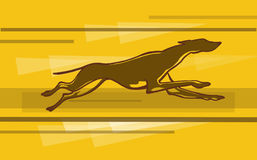 Greyhound. A simple image of a greyhound run Royalty Free Stock Photo