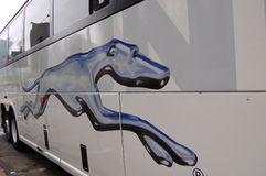 Greyhound Bus Royalty Free Stock Photography