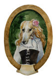 Greyhound dog portrait watercolor royal dog seria Royalty Free Stock Images
