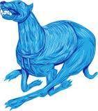 Greyhound Dog Racing Drawing Royalty Free Stock Image